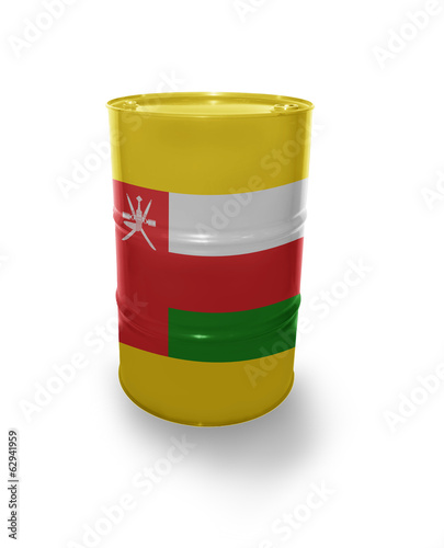 Oil barrel with Omani flag