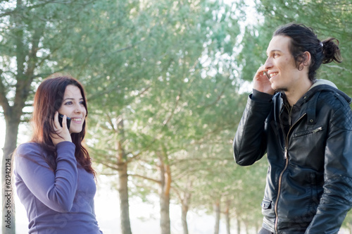 boy and girl on the phone