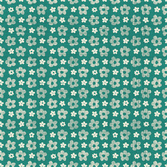 seamless pattern with fabric texture effect in retro green