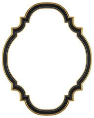 Black gilded frame