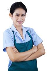 Portrait of female housekeeper