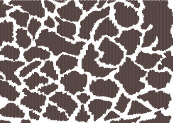 Illustration of leopard pattern on sweater