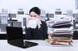 Stressful businesswoman