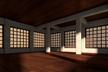 Japanese stylized room