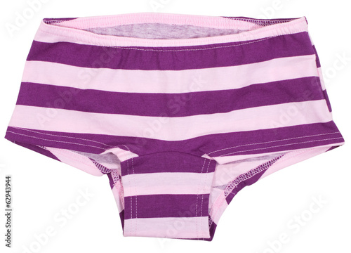 Women's panties isolated on white