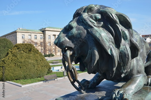 Lion, Statue of Liberty, Russe, Pyce Bulgaria