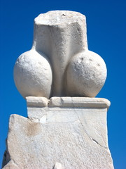 Penis statue in Delos,Greece