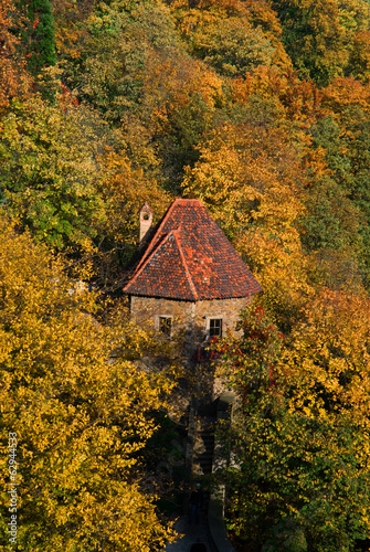 Ksiaz Castle in autumn