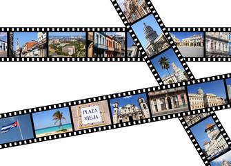 Havana, Cuba film strips