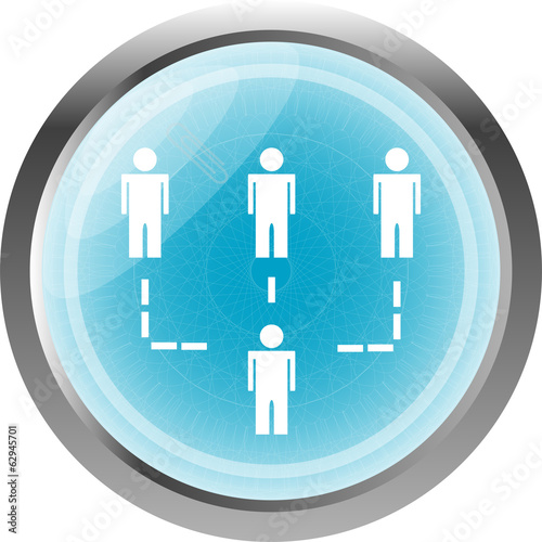 icon button with net of man inside, isolated on white