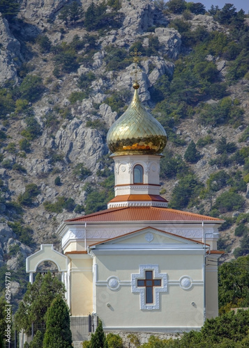 Church in Crimean mountains.
