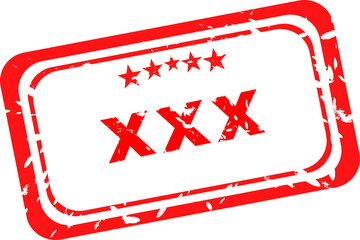 XXX Rubber Stamp over a white background.