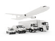 Cargo plane, truck, lorry and a delivery cars - 62946167