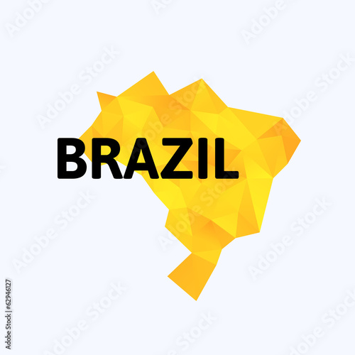 Triangle texture Brazil map