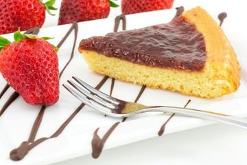 tart with strawberry jam