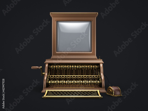 steam punk vintage computer