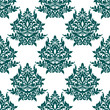 Green floral seamless pattern