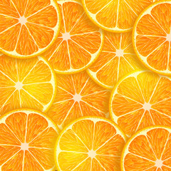 background consisting of orange slices
