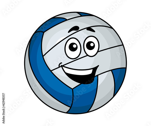Cartoon volleyball ball