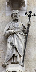 St. Joseph on the facade of the Zagreb Cathedral
