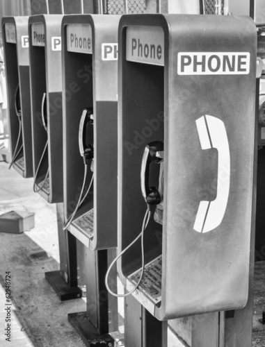 Row of Public Telephones