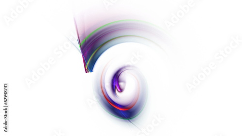 colorful abstract background in the shape of nautilus on white