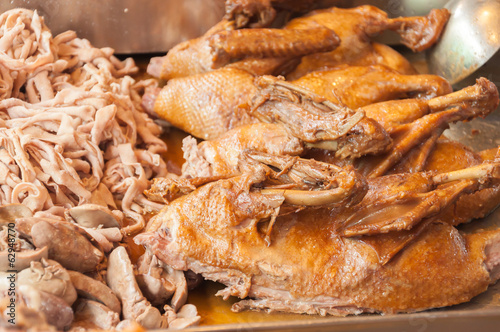 Pot stewed duck on sale in market