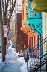 Colorful street of Montreal