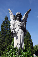 Angel at Mirogoj cemetery, Zagreb, Croatia