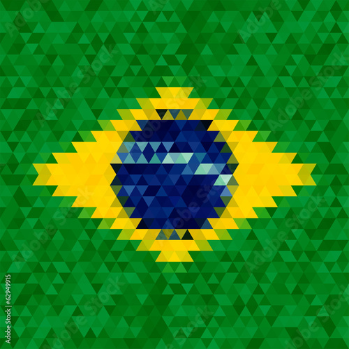 Waving fabric flag of Brazil
