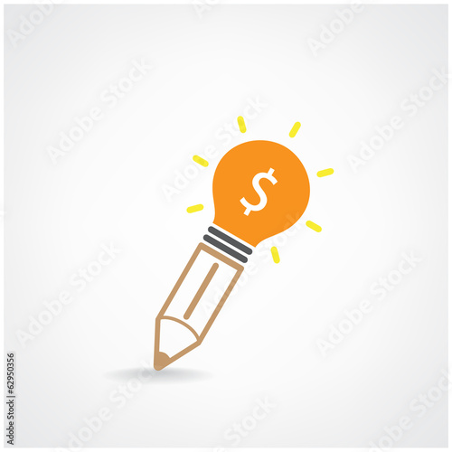 Creative light bulb Idea and pencil concept