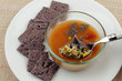 Chicken Soup with Purple Crackers