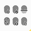 Fingerprint icons set