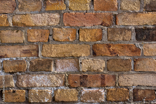 Old colorful brick wall