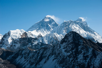 Western side of Mount Everest and Lhotse, Nepal