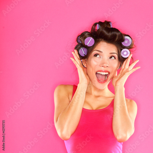 Energetic funny beautiful woman hair style - 62951735