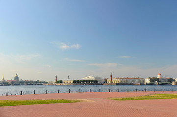 Panoramic view of the city of St. Petersburg