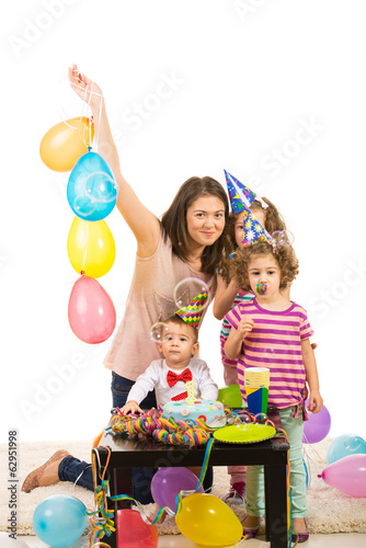 Happy birthday of toddler boy