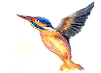 oil painting bird