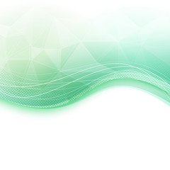 Bright wave crystal green background