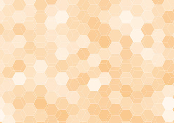 Orange hexagon abstract background template