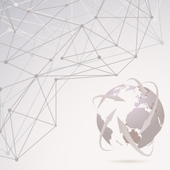 Abstract global communication background