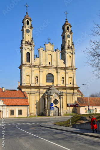 Church of the Ascension in Vilnius, spring time