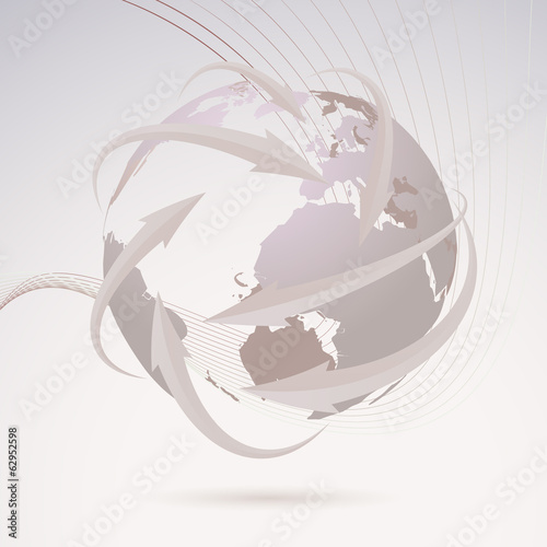 Global directional background template