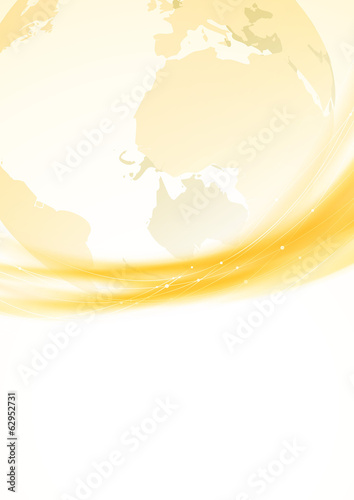 Golden swoosh border global background