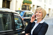 Woman attending a business call