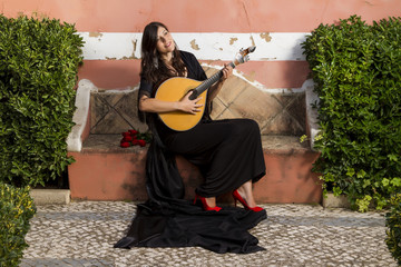 beautiful woman fado performer musician