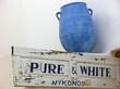 Mykonos Blue Vase
