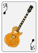 Guitar Playing Card