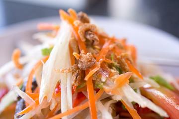 Seafood  papaya salad
